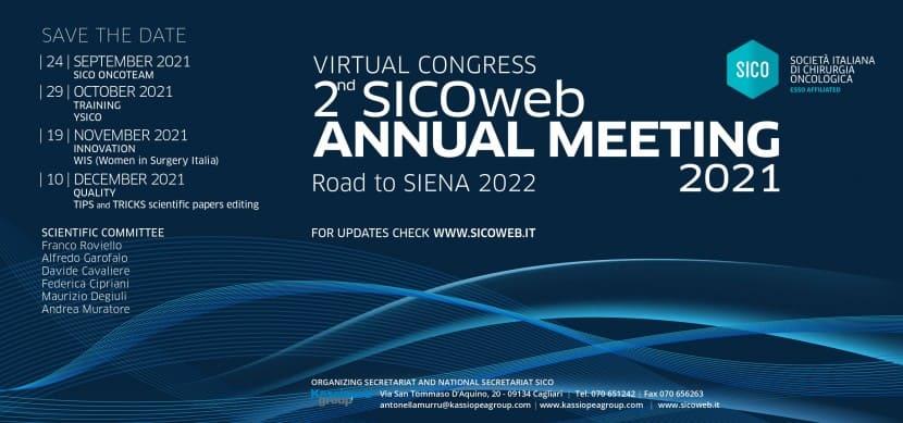 "VIRTUAL CONGRESS ""2ND SICOWEB ANNUAL MEETING 2021"" – ROAD TO SIENA 2022"