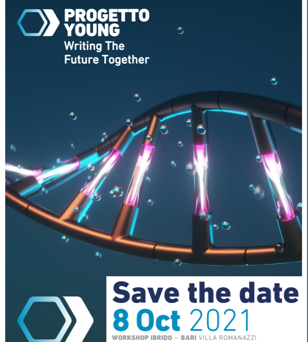 """SAVE THE DATE PROGETTO YOUNG """"WRITING THE FUTURE TOGETHER""""- BARI, 8 ottobre 2021"""