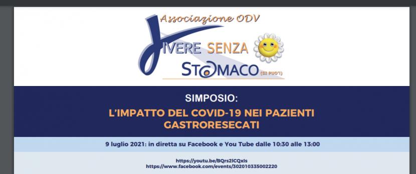 L'impatto del Covid-19 sui pazienti gastroresecati, 9 Luglio 2021
